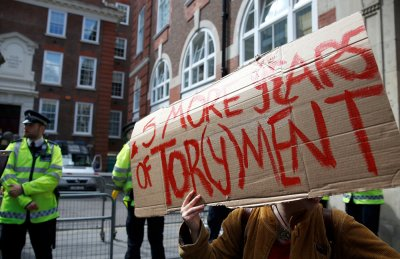 Anti-austerity Protest Downing Street 19