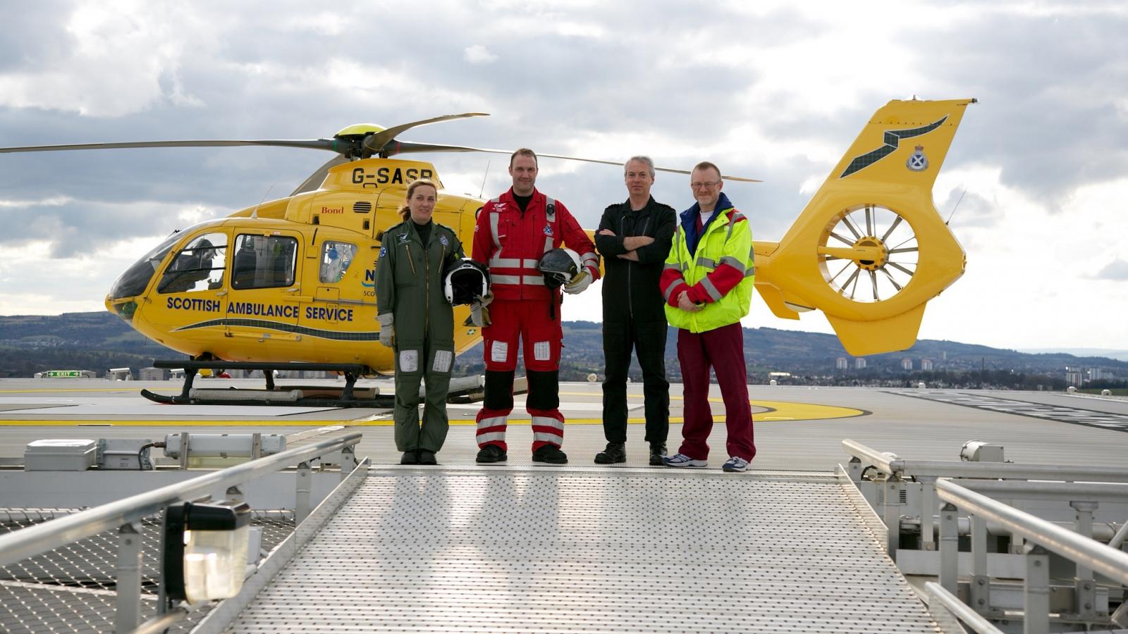 South Glasgow University Hospital helipad