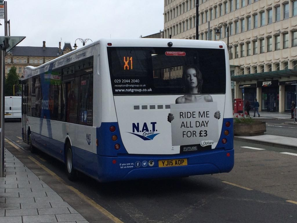South Wales bus advert