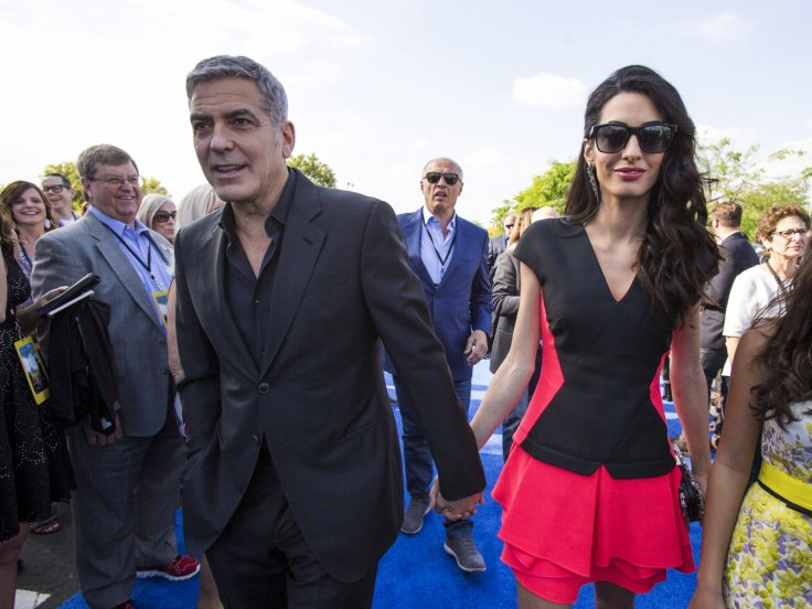 Amal And George Clooney Tomorrowland Premiere Pda Done To