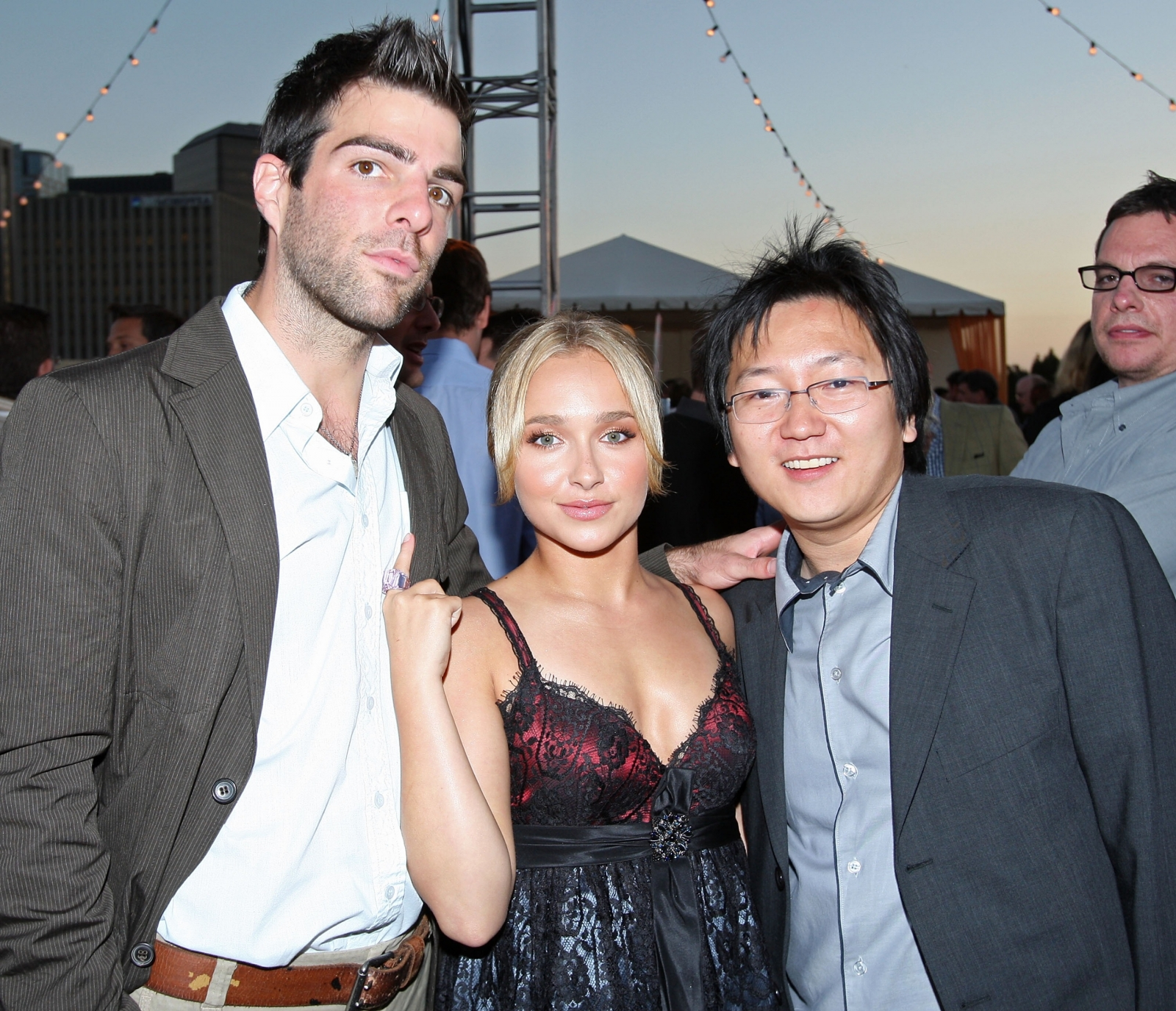 Zachary Quinto, Hayden Panettiere and Maki Osa