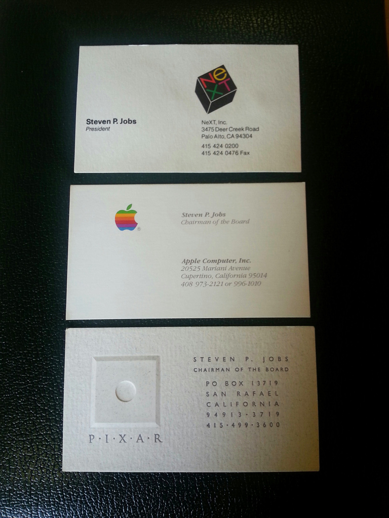 Three Steve Jobs business cards auctioned to business card startup ...