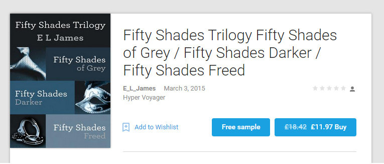 Fake eBook listing masquerading as HarperVoyager
