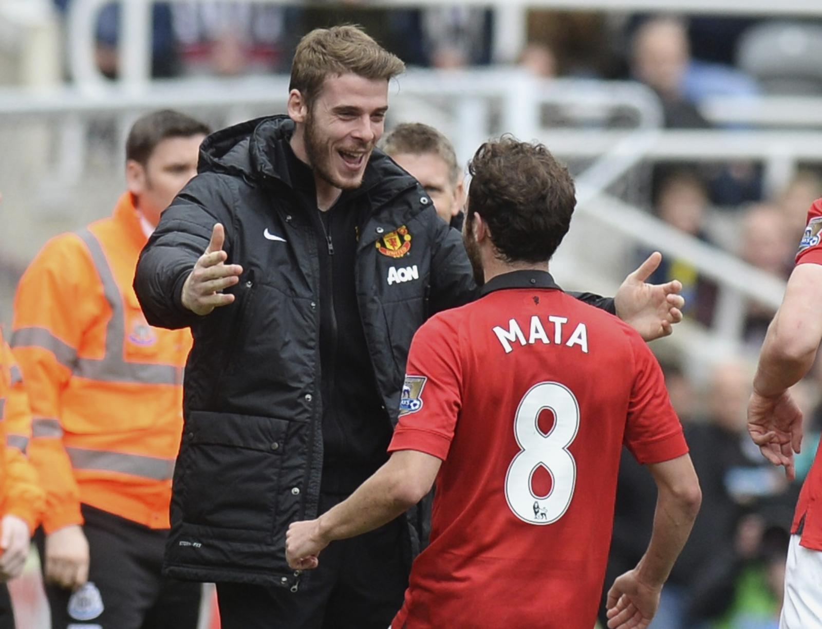 Juan Mata and David De Gea