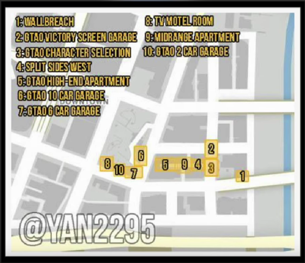 GTA 5 Online: Map of all underground secret locations and interiors