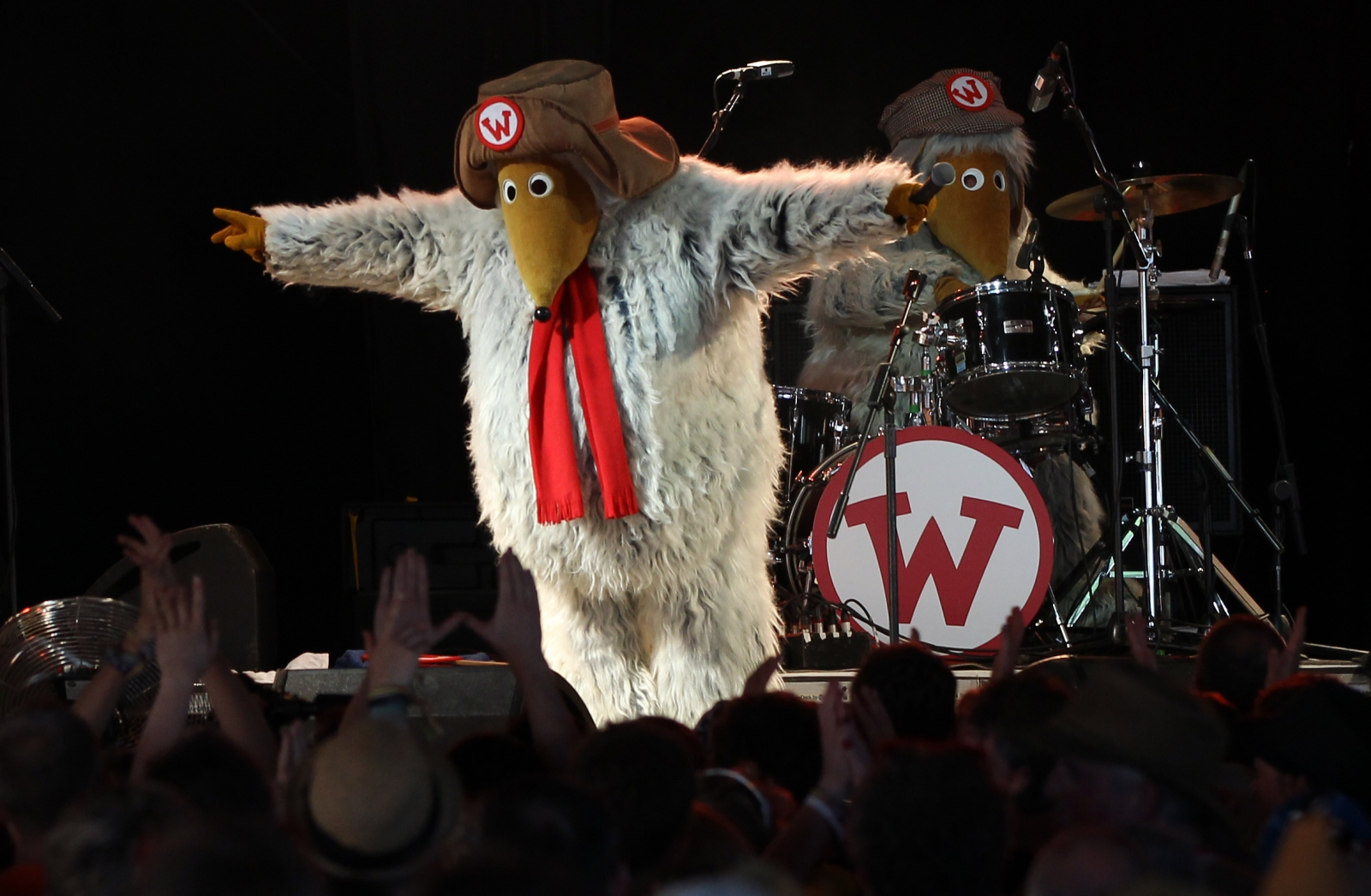 The Wombles performing at Glastonbury
