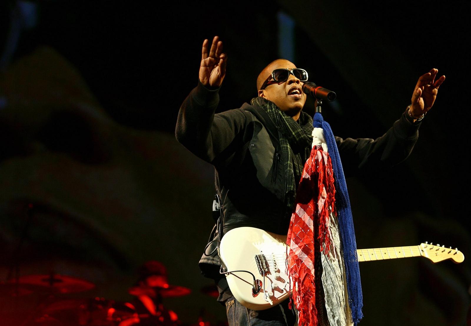 Jay Z at Glastonbury 2008