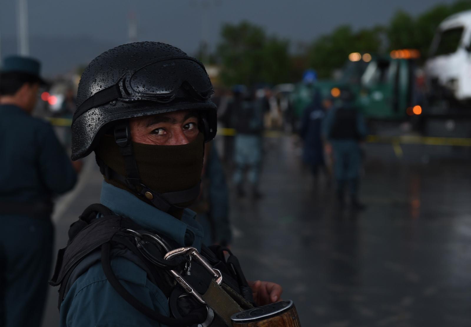 Afghan police