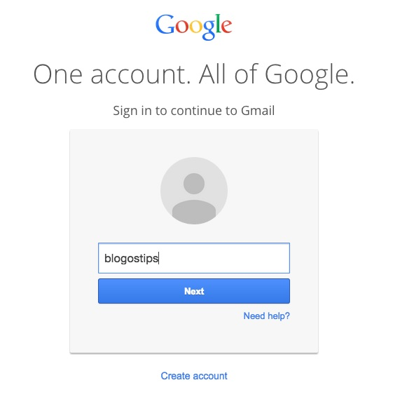 google gmail password