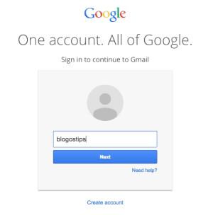 google gmail password