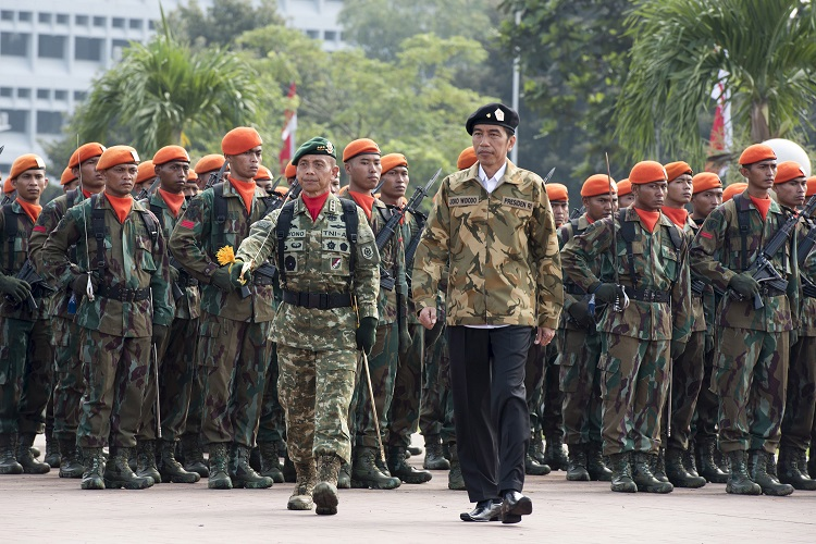 female recruits in indonesia army