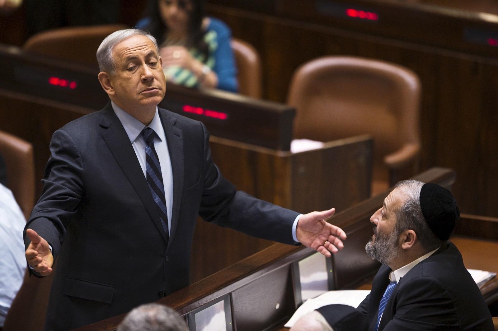 Benjamin Netanyahu and Arye Deri
