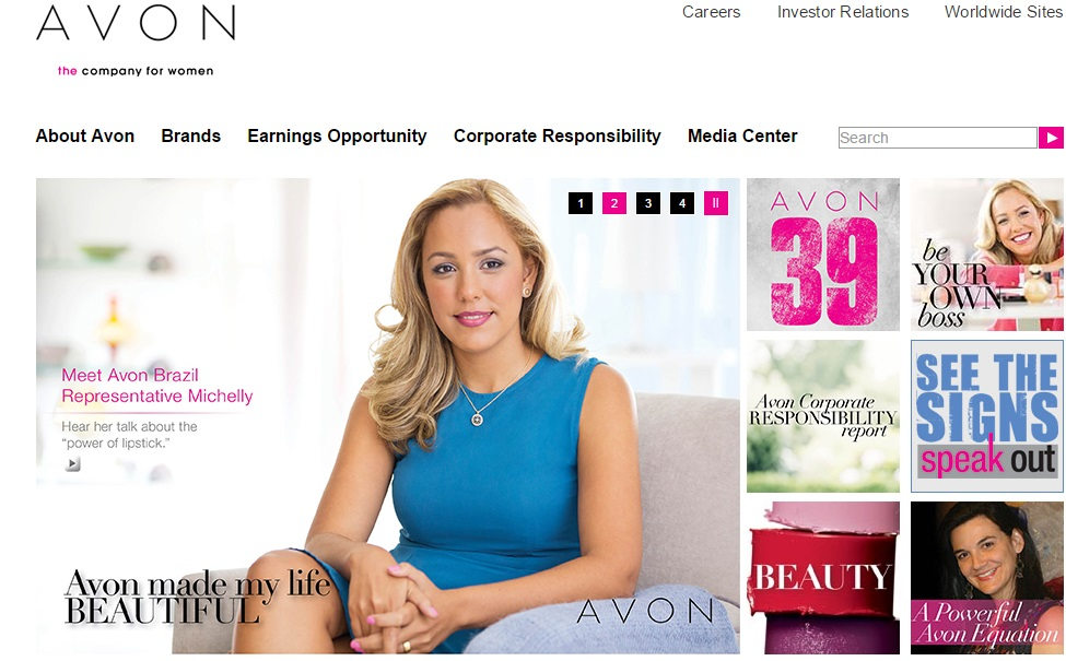 Avon Products website