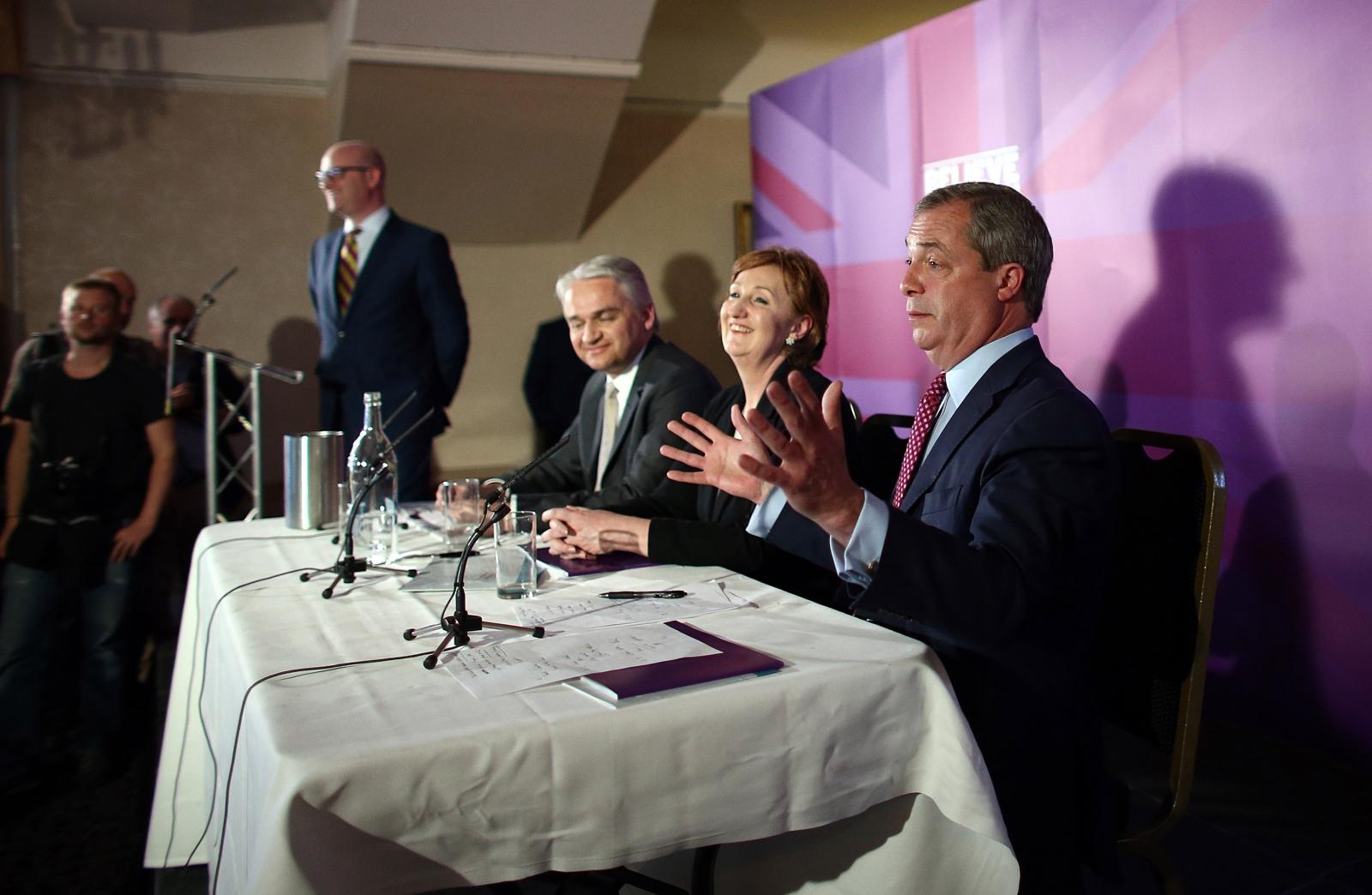 Nigel Farage and Ukip team