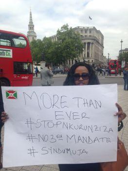 Burundi protest London