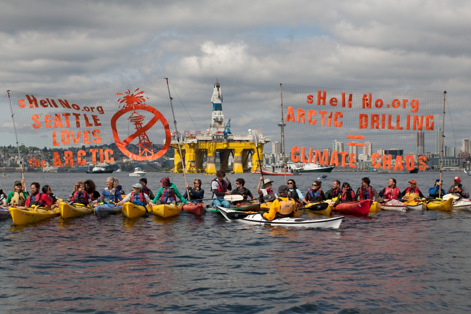 Seattle protesters against Shell