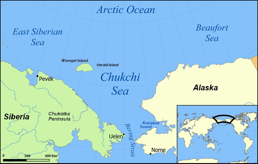 Map of the Chukchi Sea