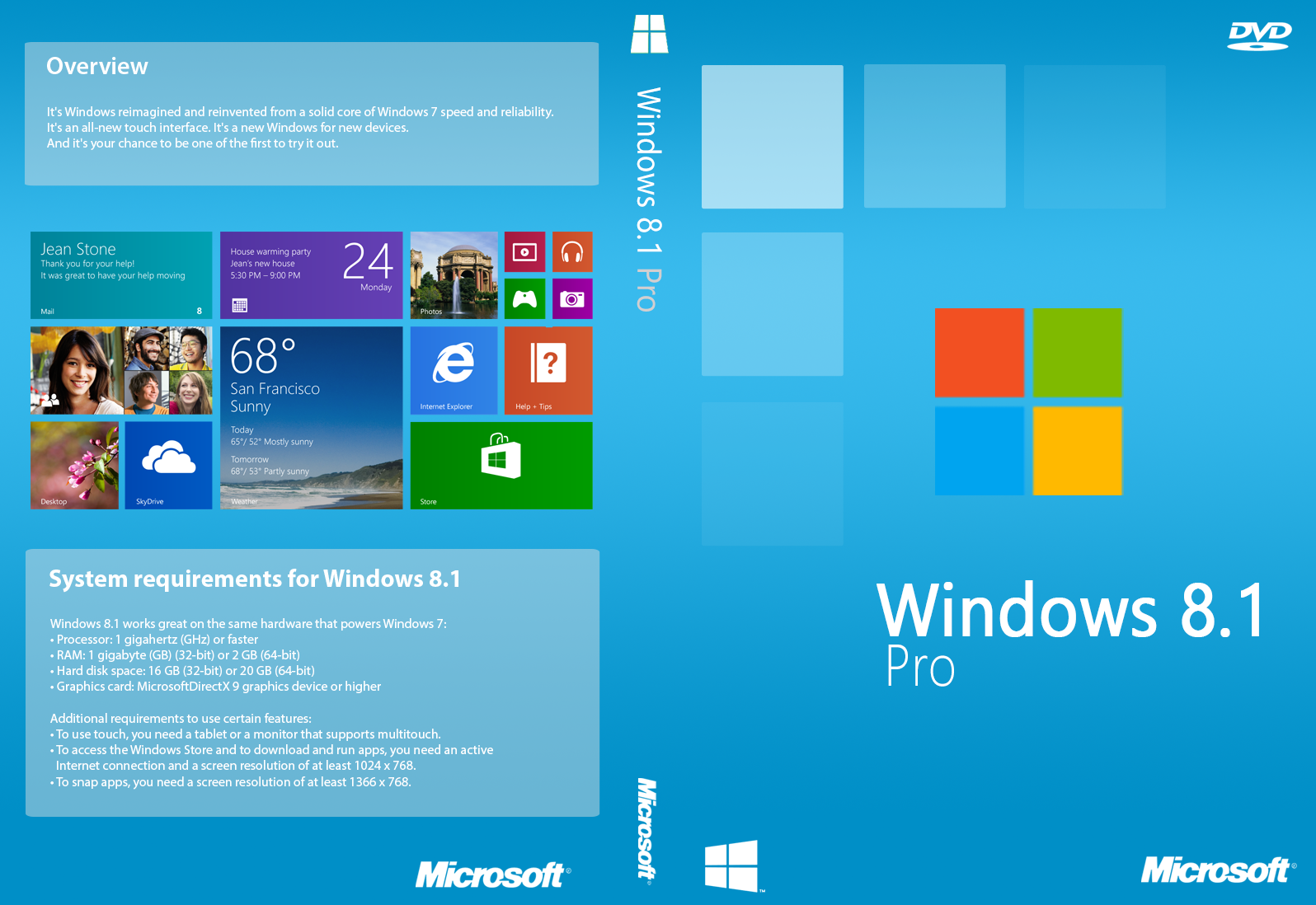 windows 8.1 and pro