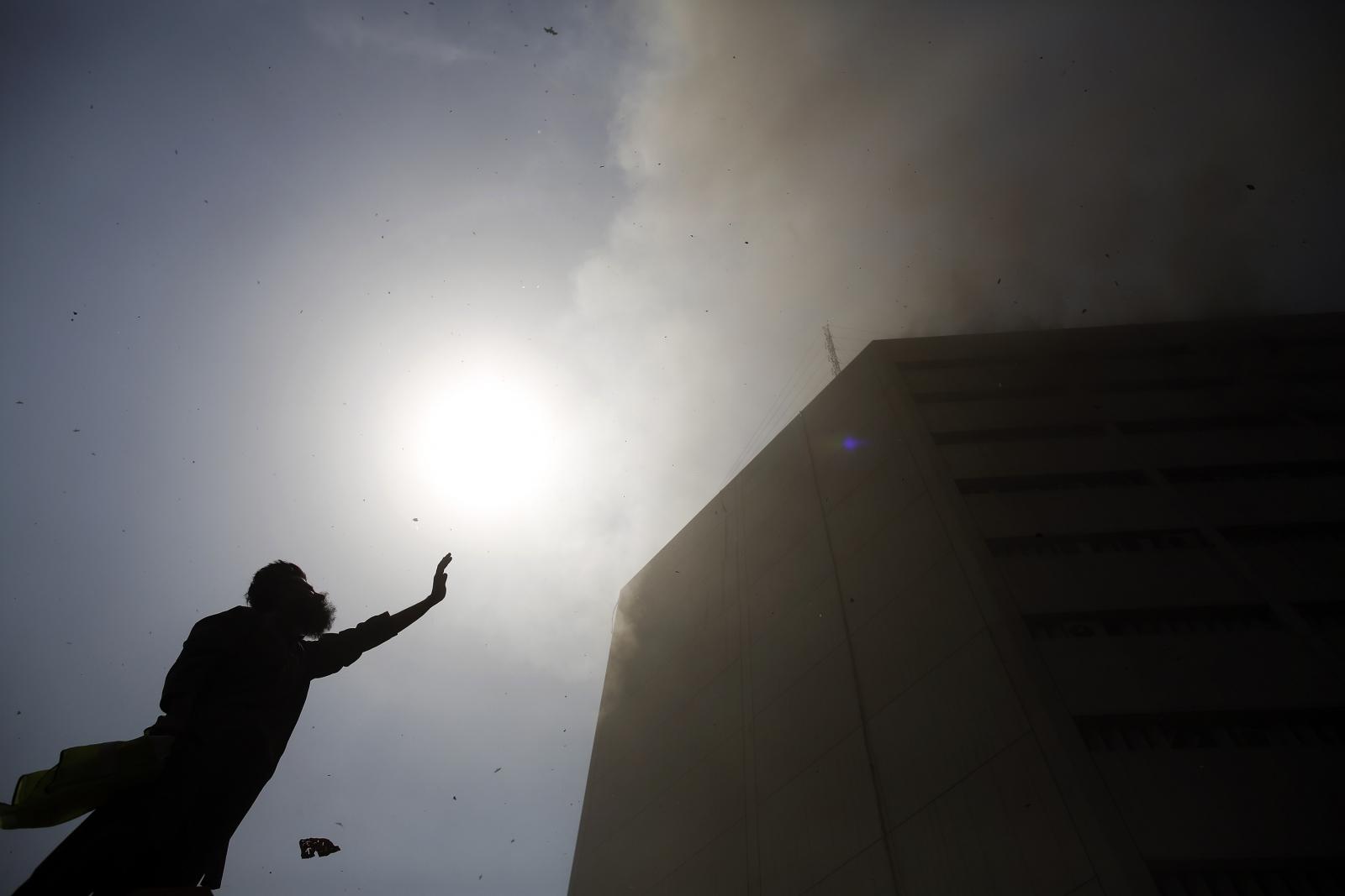 Pakistan Lahore fire