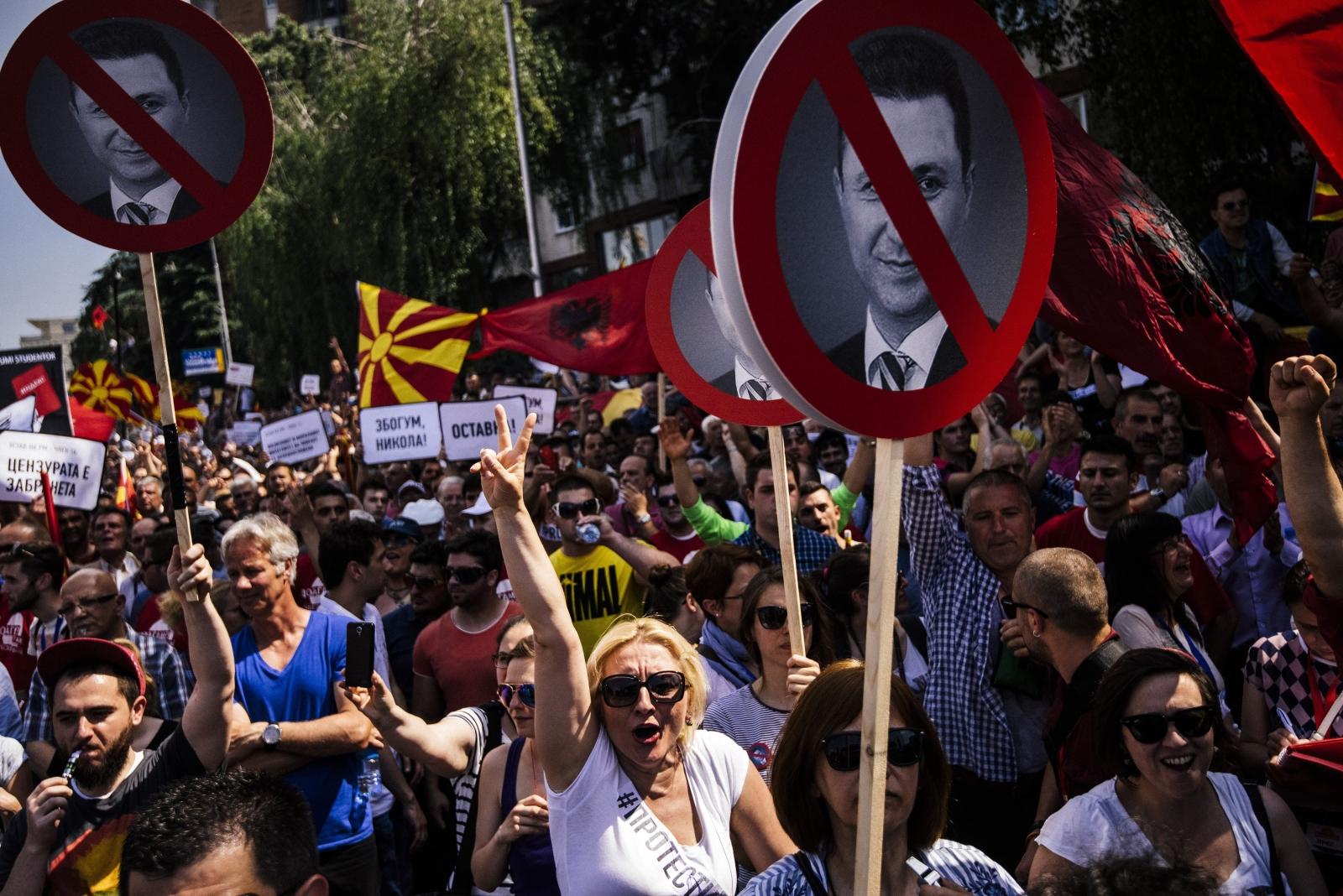 Skopje protest