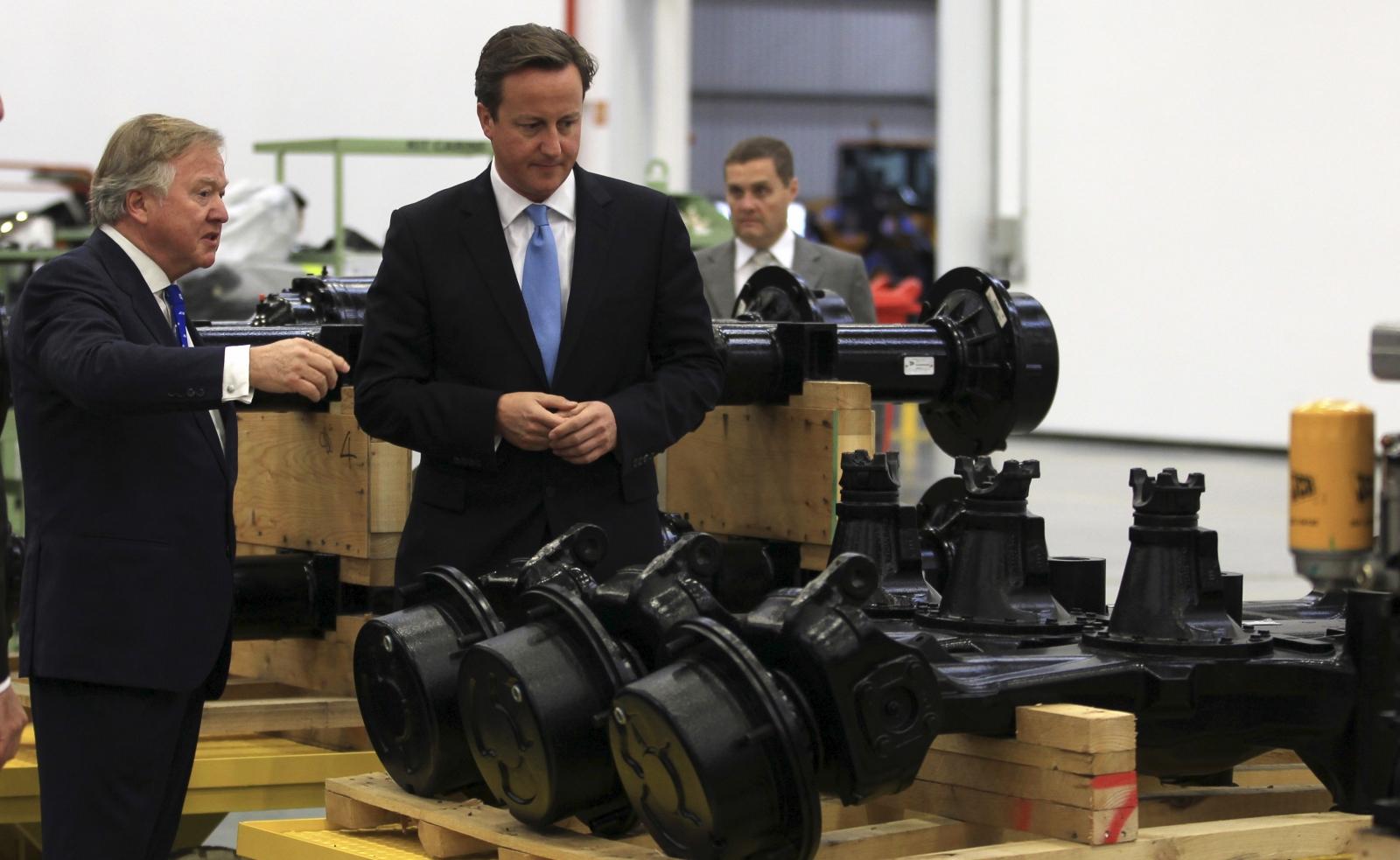 Lord Bamford and David Cameron