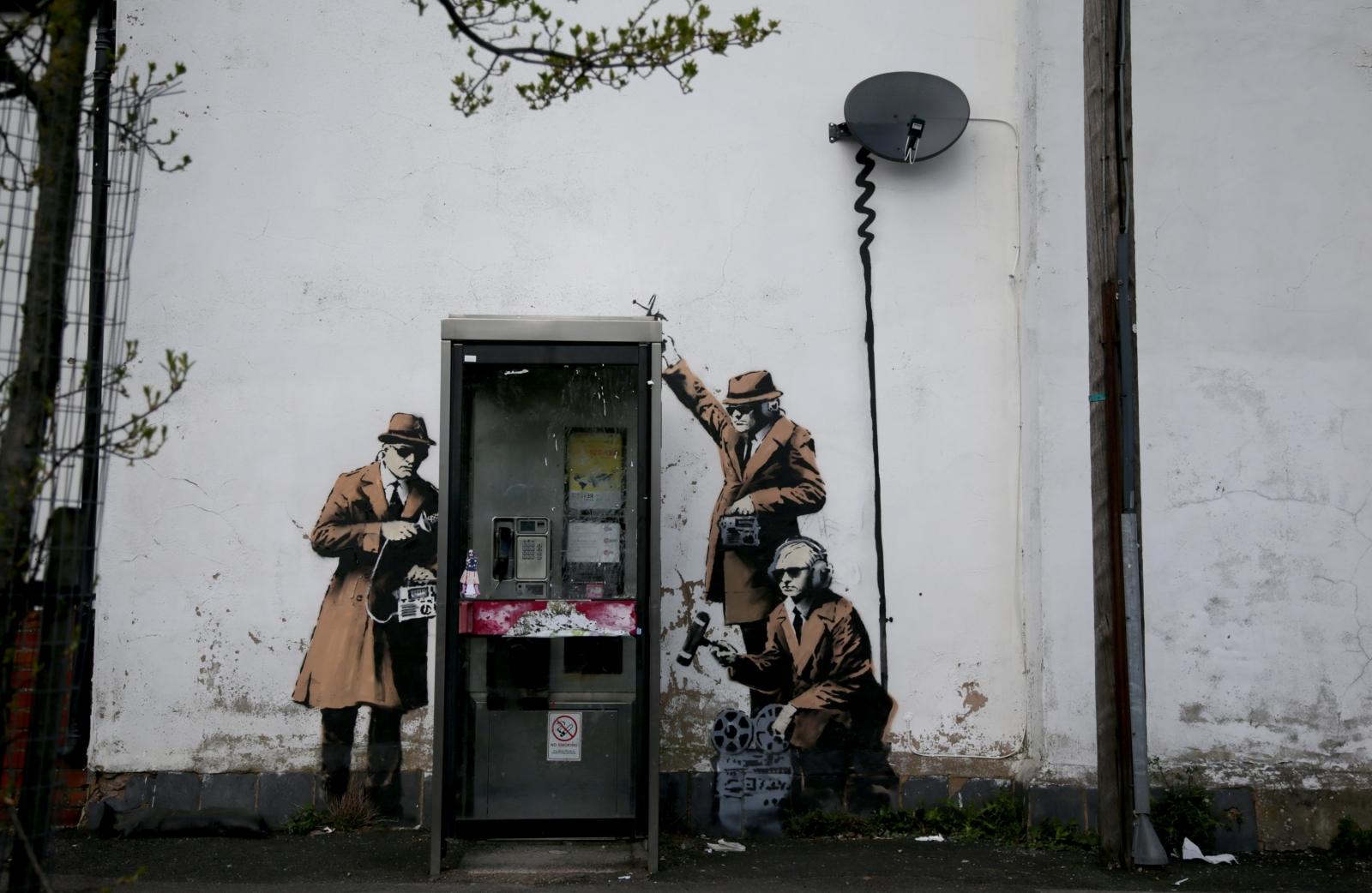 Banksy mural near GCHQ depicts spying
