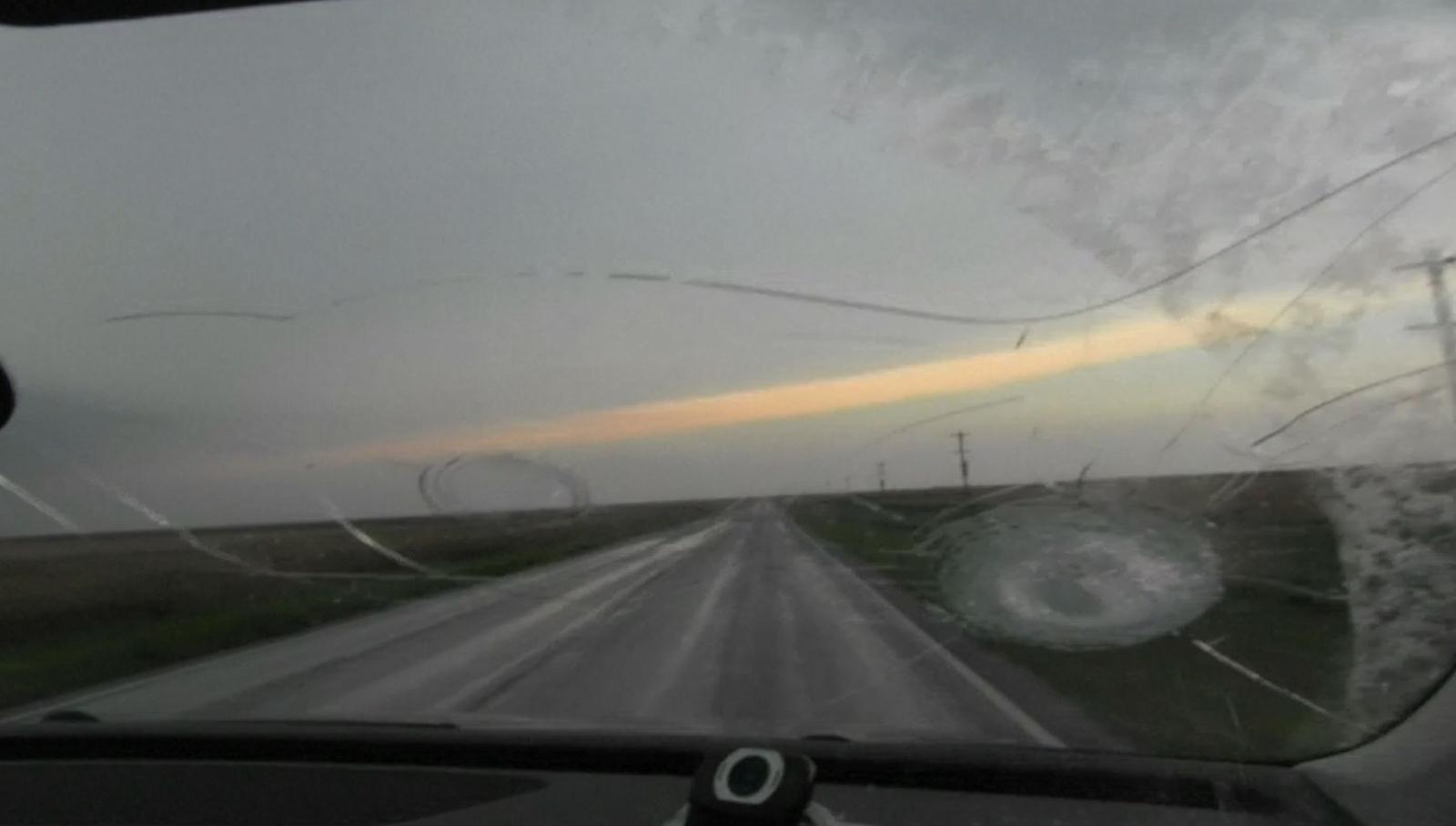 hailstones Oklahoma