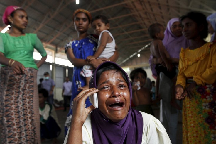 A Rohingya migrant