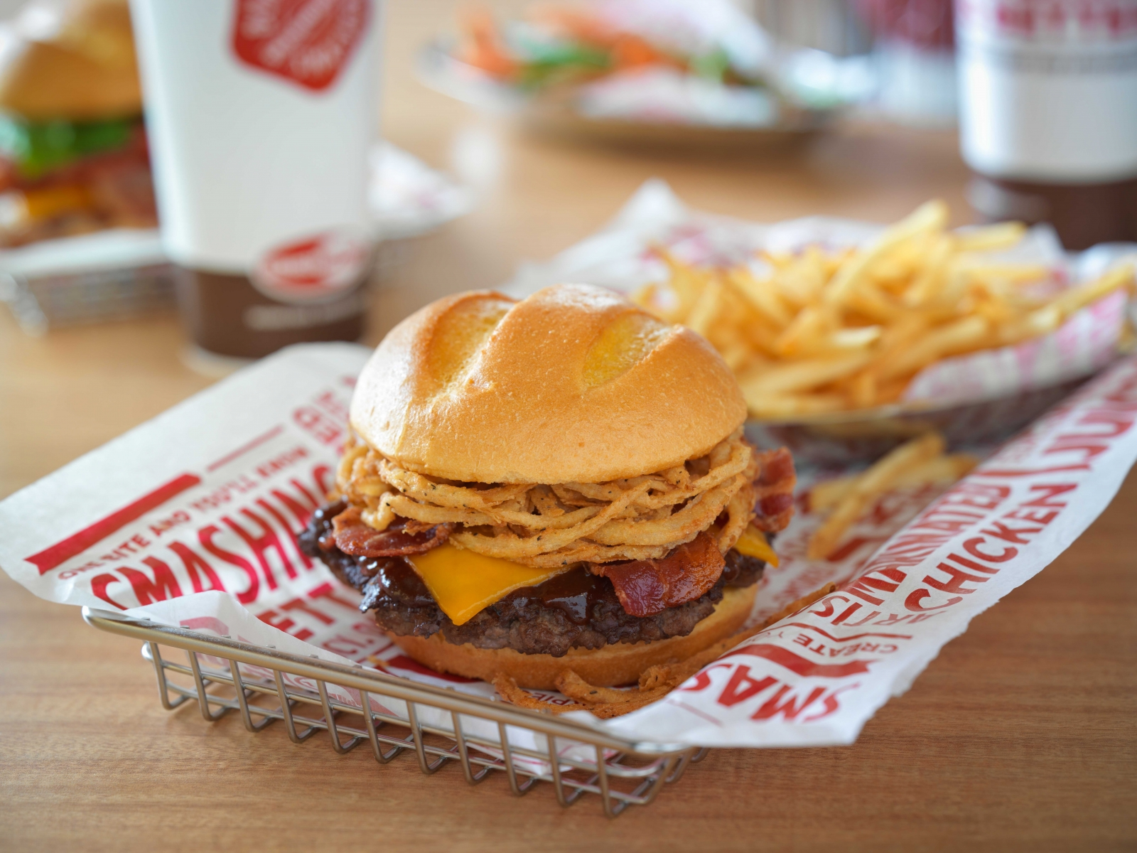 Smashburger burger and fries