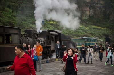 shixi bagou steam train