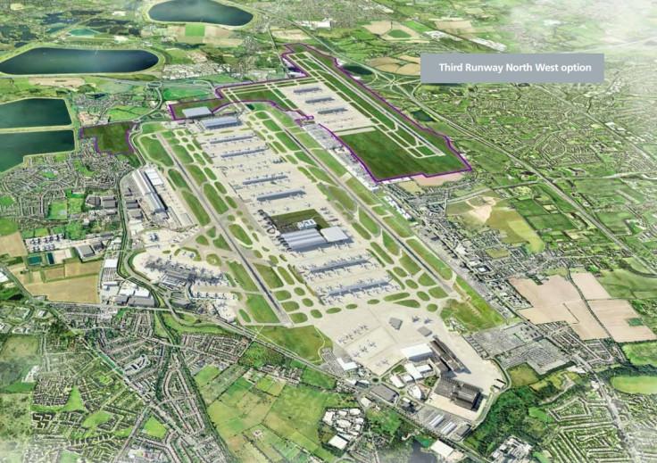 Heathrow third runway north west