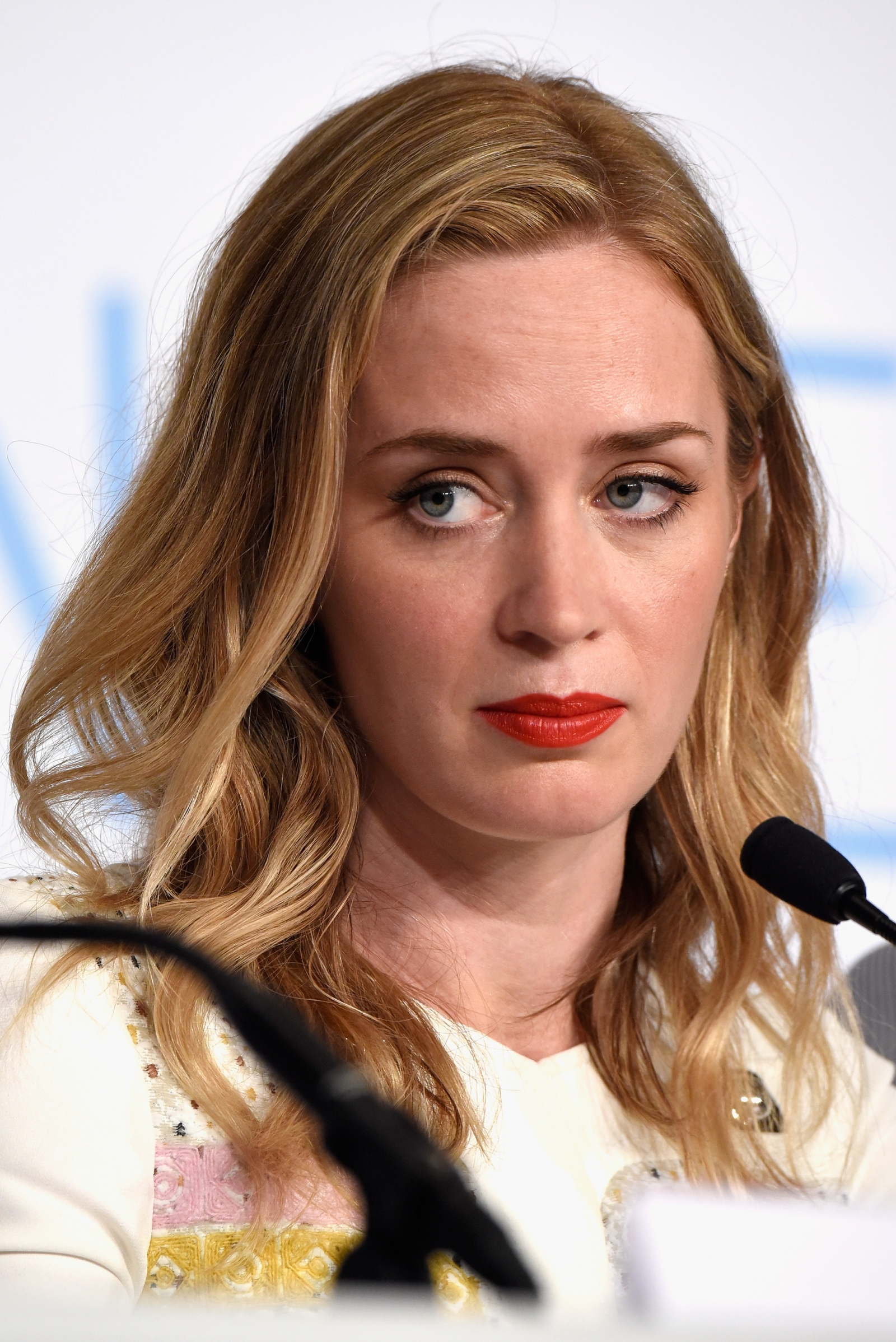 Emily Blunt promoting Sicario at Cannes Festival