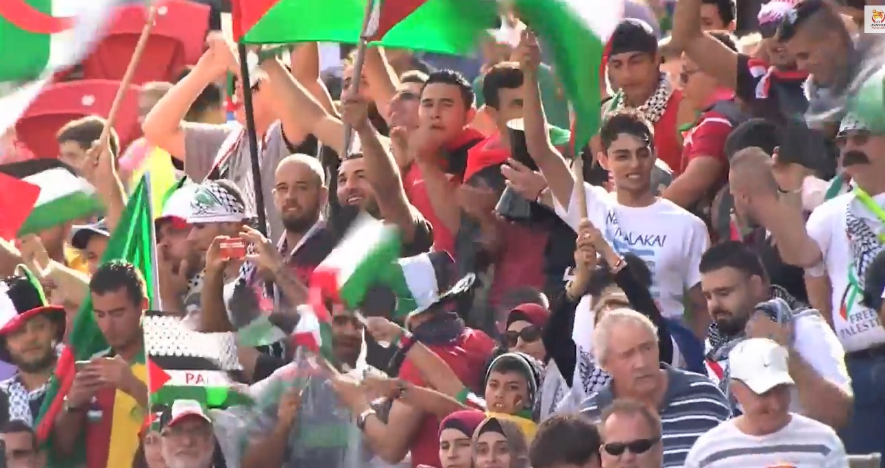 Palestine football fans