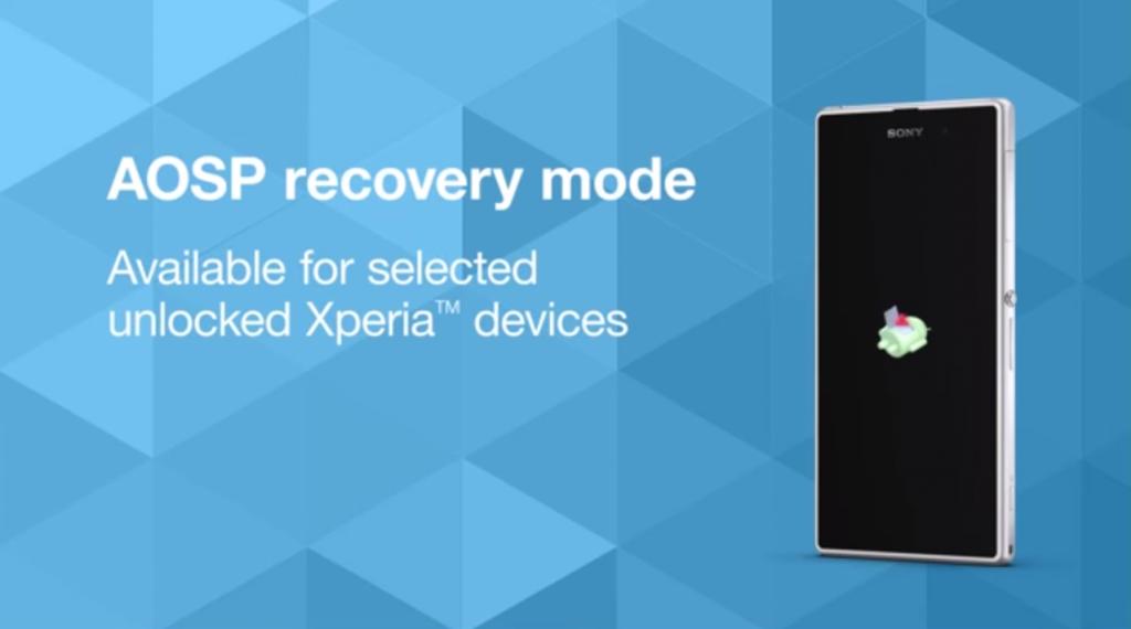 Sony's AOSP recovery tool