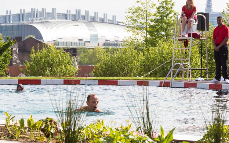 The King's Cross public swimming pond