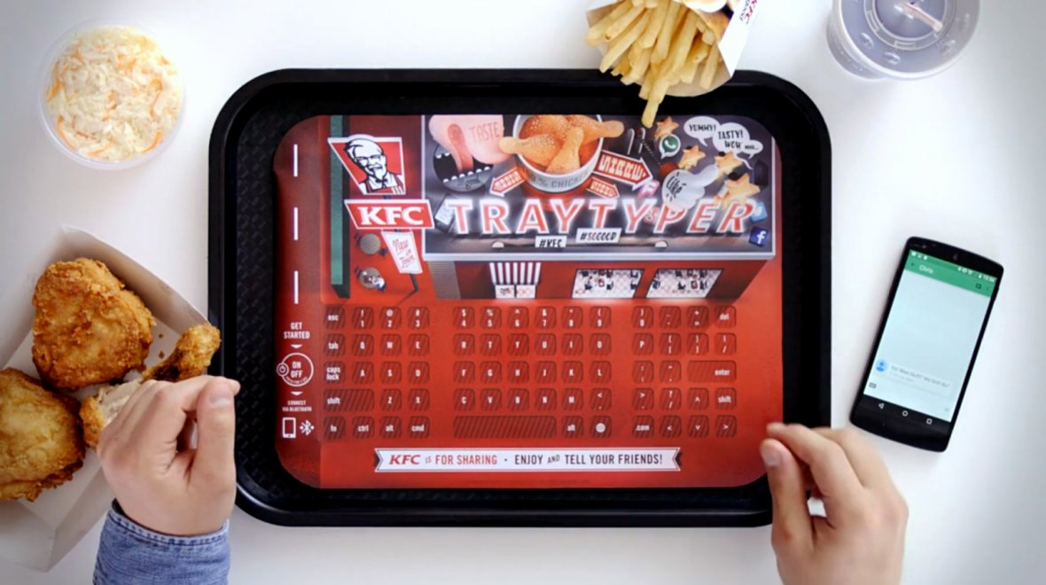 Meet the KFC Tray Typer wireless keyboard