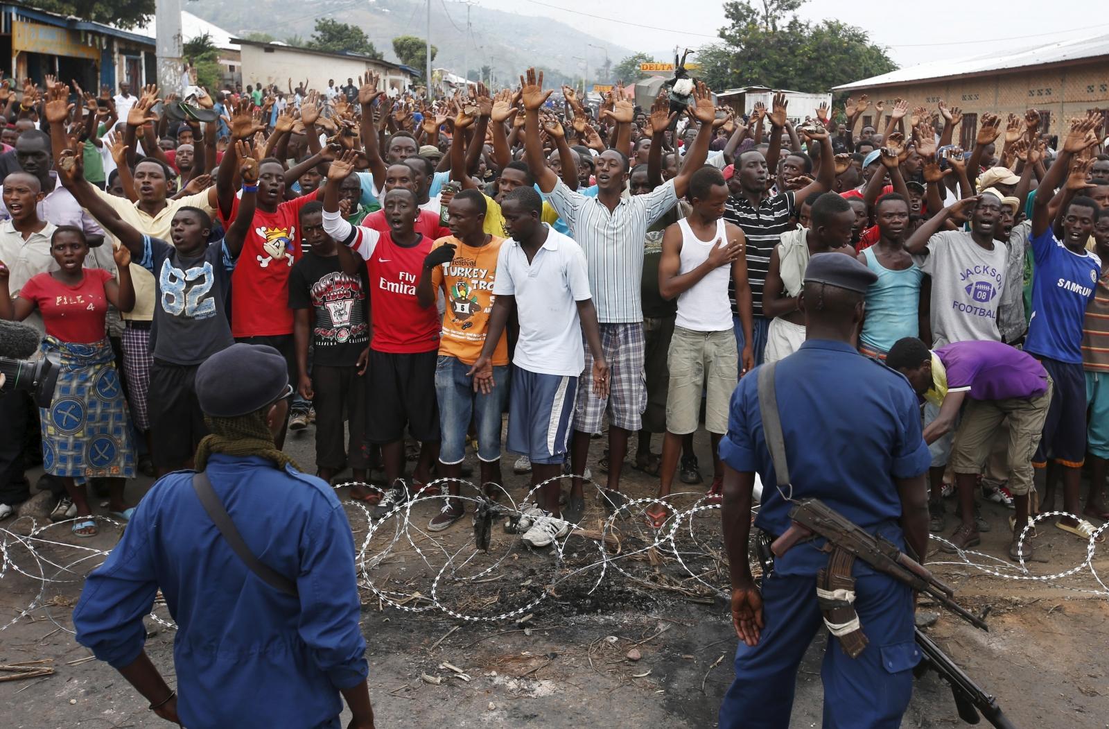 Burundi Musaga protest