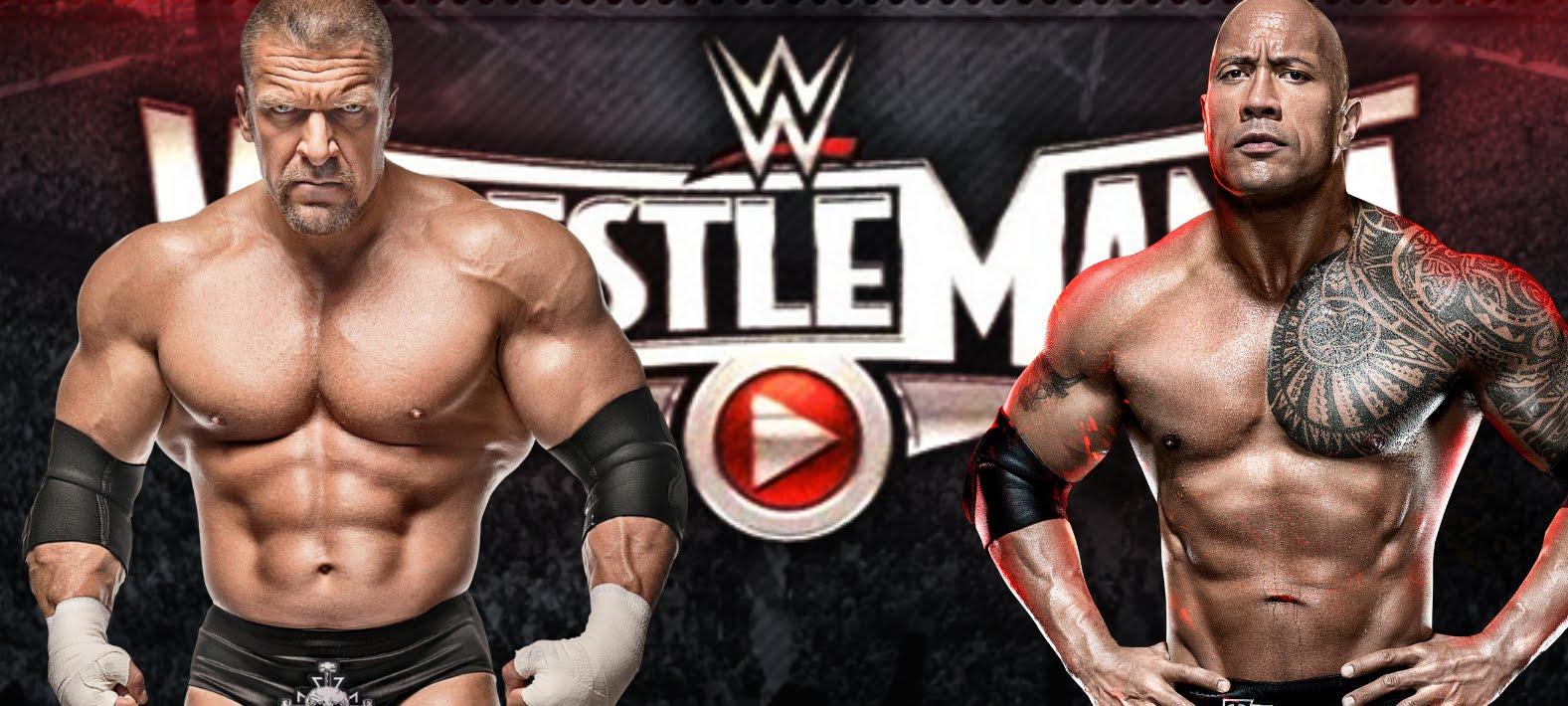 Triple H L And Dwayne The Rock Johnson R WWE Network