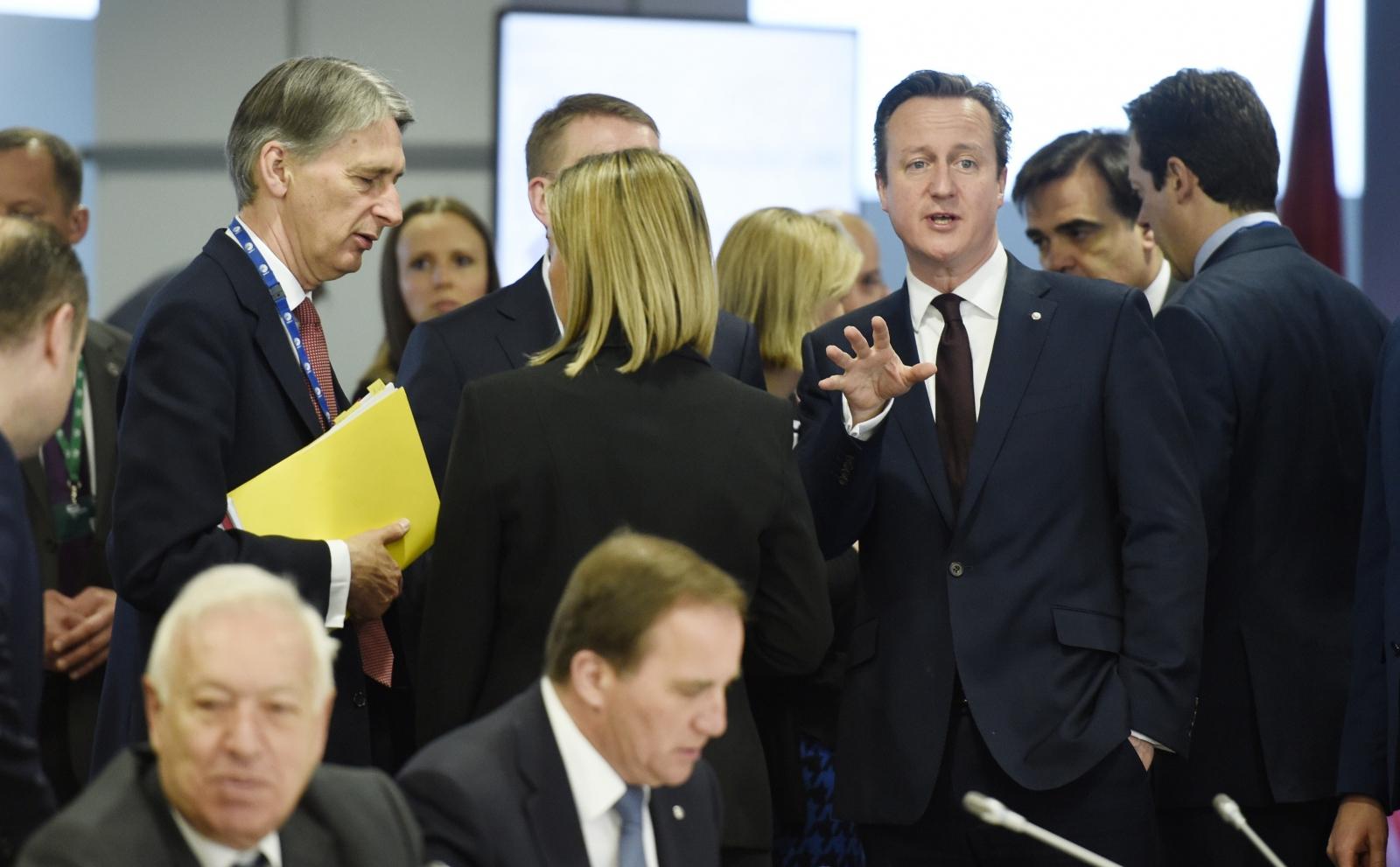 David Cameron and Philip Hammond