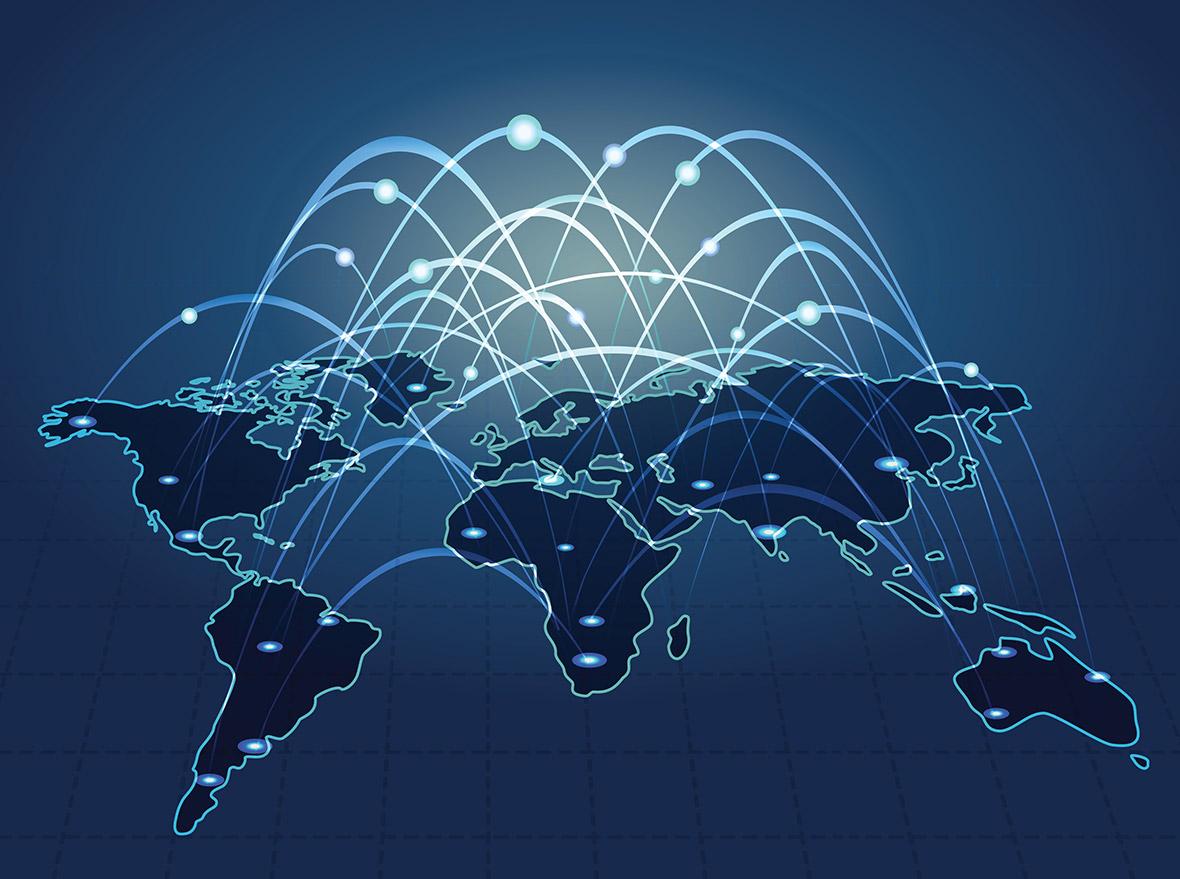 UK broadband Internet access connectivity world map