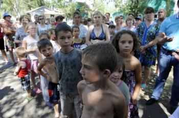 Ukraine Donetsk Lugansk refugee UN humanitarian crisis