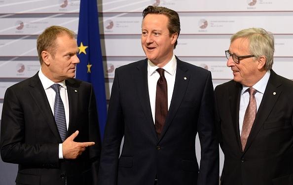 Donald Tusk David Cameron Junker