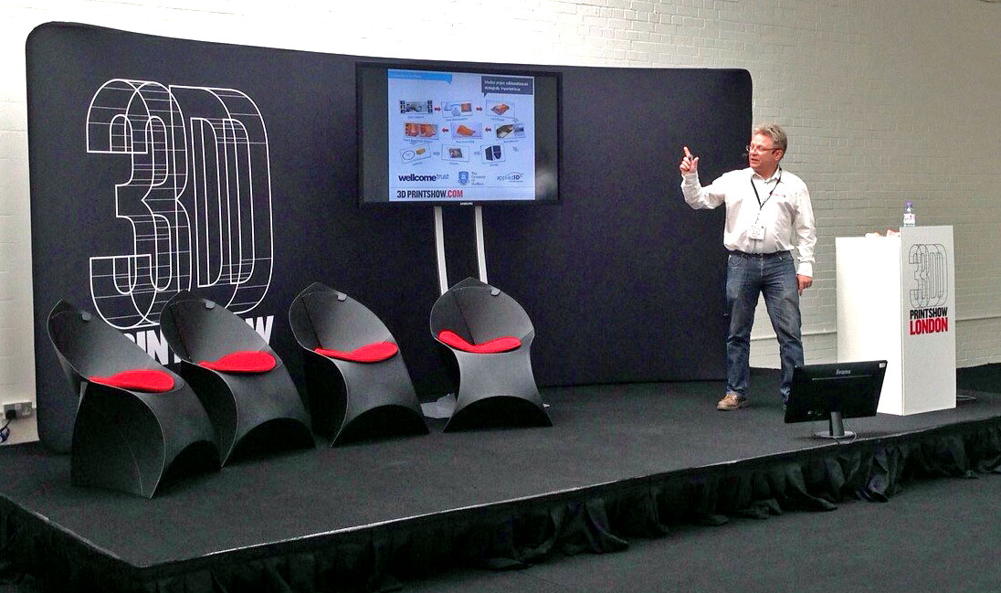 Steve Roberts at the 3D Printshow 2015