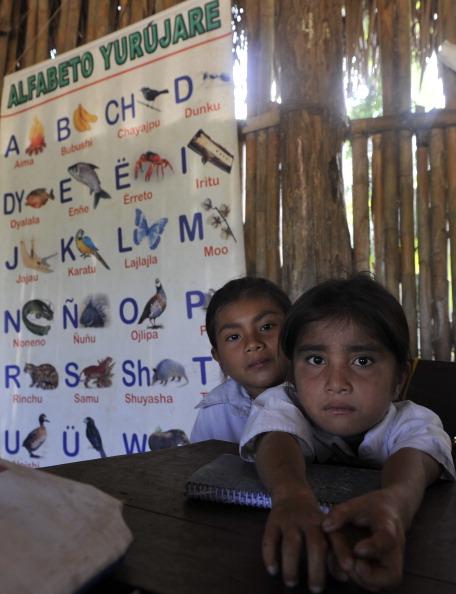 School children at Bolivia School