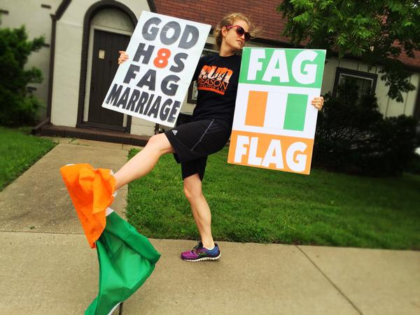 Westboro Baptist Church flag mistake