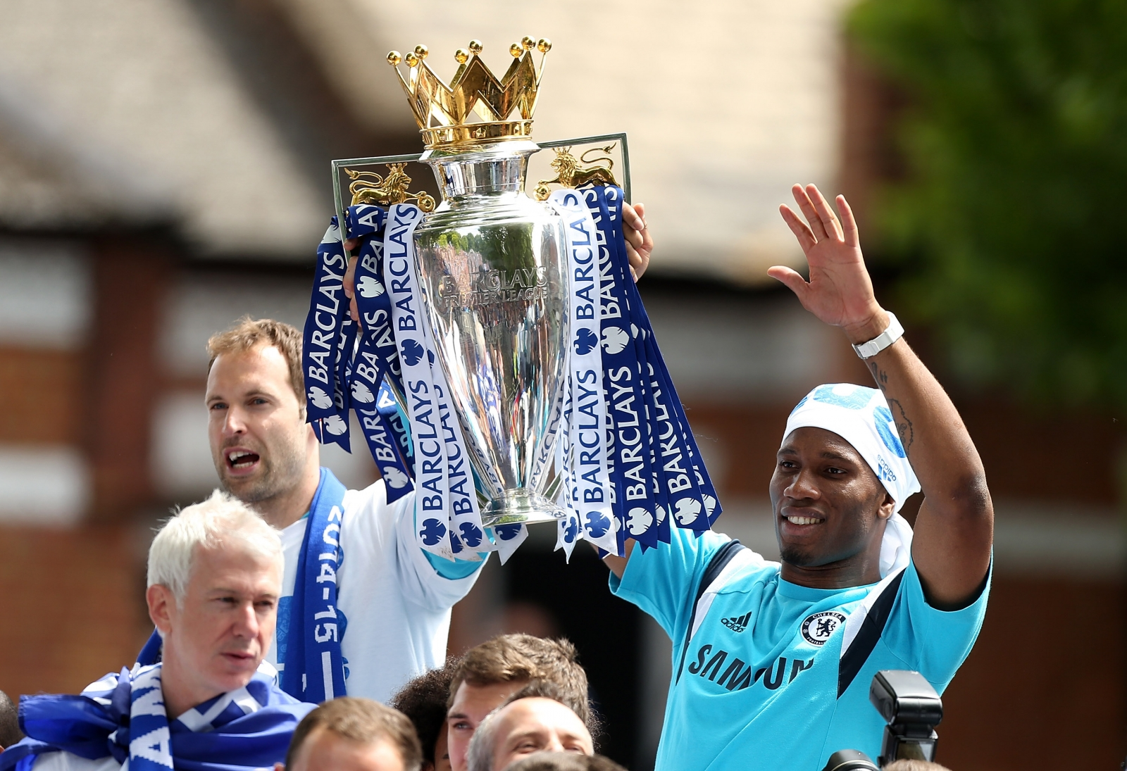 Petr Cech and Didier Drogba