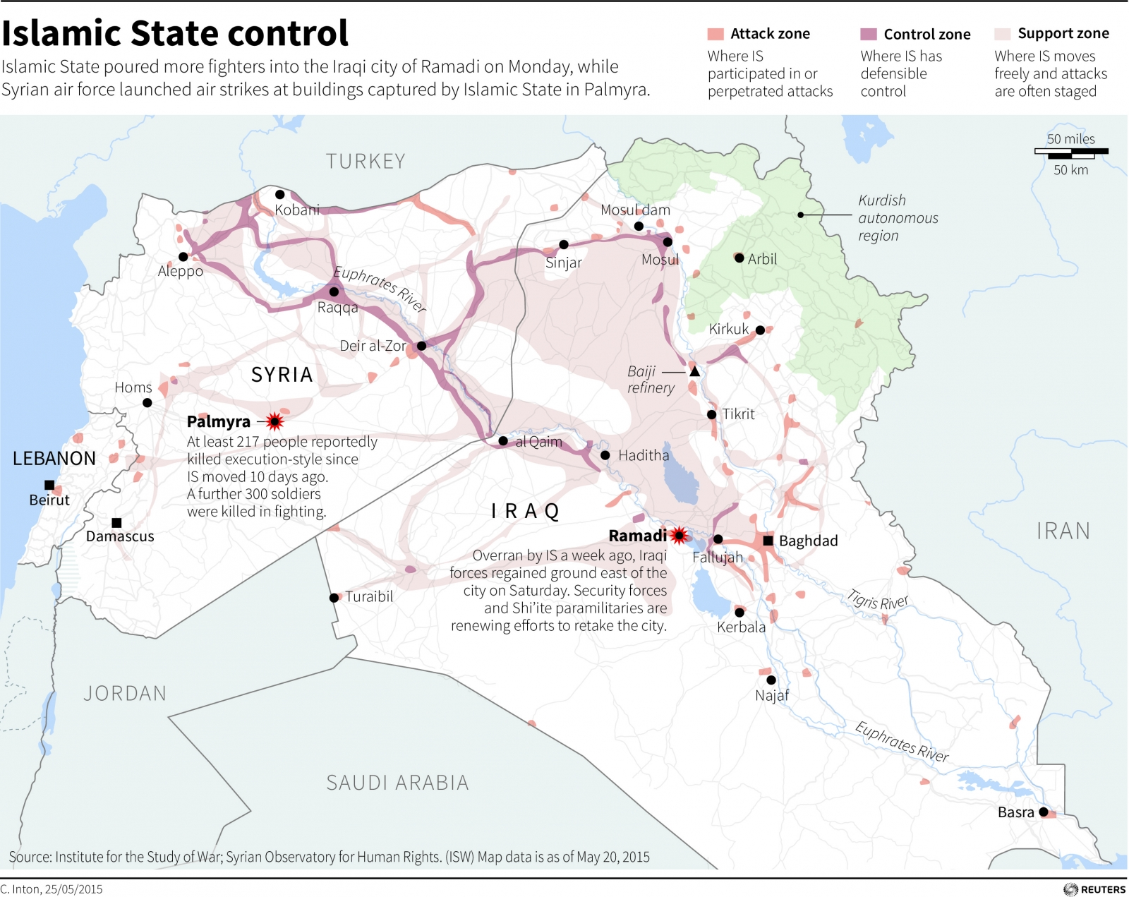 Isis Syria iraq Map
