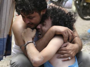 Brother killed mortar shell yemen Taiz