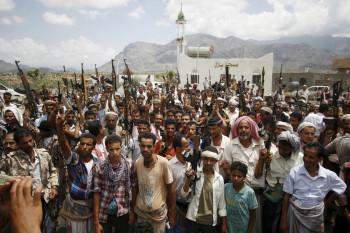 Tribesmen anti-houthi yemen taiz