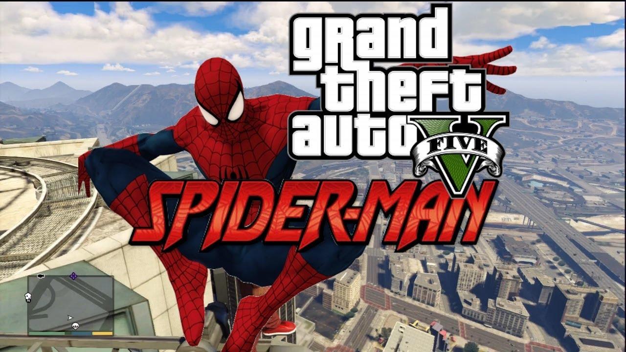 GTA 5 PC Mods: Spiderman and Superhero Mod gameplay revealed